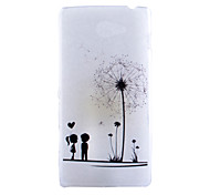 Dandelion Pattern Slim Transparent TPU Material Soft Phone Case for Sony M2