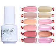 Sequins UV Color Gel Nail Polish No.37-48 (5ml, Assorted Colors)