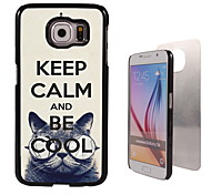 Keep Calm and Be Cool Design Aluminum High Quality Case for Samsung Galaxy S6 Edge G925F