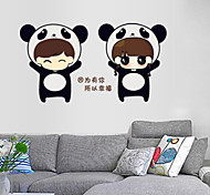 Multifunction DIY PVC Couple Style Comic Style Decorative Stickers