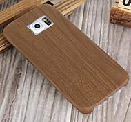 Holz schlanke weichem Leder-Tasche für Samsung Galaxy S6 / S6 Kante
