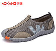 Aokang Men's Shoes Outdoor/Athletic/Casual Tulle Fashion Sneakers Yellow/Gray/Khaki