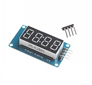 Arduino 4 Digit LED Display Module LED Brightness Adjustable Point Fitting Blocks With Clock