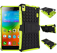 2in1 TPU + PC Tough Rugged Dual Layer Case for Lenovo K3 Note 5.5 A7000 Robot Stand Holder Cover with Kickstand