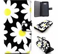 Chrysanthemum Pattern PU Leather Phone Case For Samsung Galaxy A8