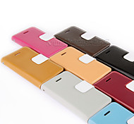 UWEI Cow Leather Wallet Full Body Case With Stand for Iphone 4/4s