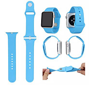 Materia 3-root Original 1:1 Silicone Wearables Straps 38mm Watch Band with Package for Apple Watch (Assorted Colors)