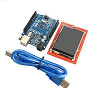 version améliorée uno Module r3 du conseil d'administration de ATmega328P + 2.4 pouces module d'affichage TFT LCD tactile pour Arduino