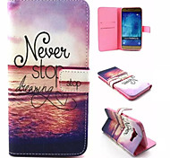 Dream Pattern PU Leather Phone Case For Samsung Galaxy A8