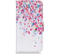 Cherry Blossoms Fall PU Leather Full Body Case with Screen Protector And Stand for iPod Touch 5