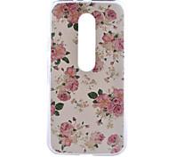 Rose Flower Pattern PC Hard Back Cover Case for Motorola MOTO G3 3rd Gen