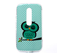 Owl Pattern TPU Soft Case for Motorola Moto G3