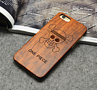 Wooden iphone Case ONE PIECE Anime Pirates Hard Back Cover for iPhone 6/6s