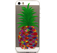 iPhone 7 Plus pineapple  Pattern TPU Relief Back Cover Case for iPhone 5/iPhone 5S