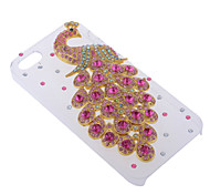 Pink Luxurious Crystal Peacock Hard Case for iPhone5/5S