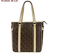 Kate & Co.® Women PVC Shoulder Bag Gray - TH-02233