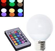 1 pcs Ding Yao E27 10W 3 COB 450-500LM RGB A Globe Bulbs AC 85-265V