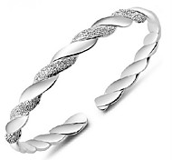 Bracelet/Cuff Bracelet/Silver Bracelet, Fashion Twist Sterling Silver Plated Bangles for Women Jewelry Chrismas Gift 1 pcs