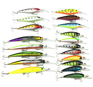Mixed Size  Minnow Baits  Fishing Lures Set (19pcs)