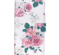 Rose Flower Pattern PU Leather Wallet Full Body Case with Card Slot And Stands for Motorola MOTO G3 3rd Gen