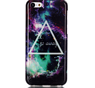 Triangle star  Pattern TPU Soft Case for iPhone 5C