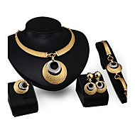 Four Sets Of Gold Jewelry Earrings Jewelry Set
