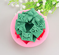 Christmas gift Shaped  Soap Molds Mooncake Mould Fondant Cake Chocolate Silicone Mold, Decoration Tools Bakeware