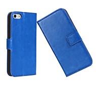 роскошный цветом света рисунок поверхности жесткий кейс с магнитной оснастки и слотом для карт iPhone 5с (ассорти цветов)