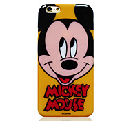 Disney Minnie Yellow TPU Soft Back Cover for iPhone 6