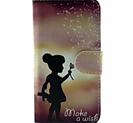 Girl Pattern PU Leather Phone Case For Samsung Galaxy S6 / Galaxy S6 edge /Galaxy S6 Edge Plus
