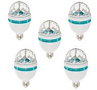 5pcs HRY® E27 3W Colorful Auto Rotating RGB LED Bulb Stage Light Party Lamp Disco(85-265V)