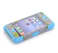 3-in-1 disegno nazionalità modello protettivo cassa dura del telefono mobile per il iphone 4 / 4s colori assortiti