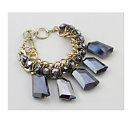 Fashion Crystal Texture Black Exaggerated Bracelet(1 Piece)