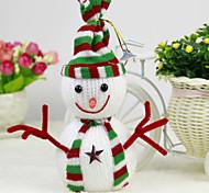 enfeites de natal boneco de neve pingente