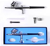 Tatuajes con Aerógrafo-Metálico-Pistolas de Aerógrafo-Adulto-Plata-Metal / Latón15cm-7cc & 10cc-15-50psi-0.3mm