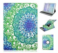 blaue und weiße Porzellan Muster PU-Leder Ganzkörper-Fall mit Standplatz für Samsung Galaxy Tab 9.7 T550