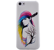 Tree Elves Pattern Transparent TPU Material Soft Thin Cell Phone Case for iPhone 5C