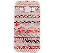 Pink Stripes Pattern TPU Material Transparent Soft Cell Phone Case for Samsung Galaxy J1/J5