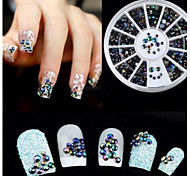 Mixed-sizes Beautiful Black Nail Jewelry Nail Art Decorations