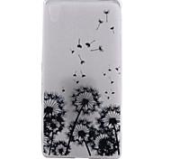 Löwenzahn Muster TPU Material dünnen transparenten Soft-Phone-Fall für Sony Z3 / Z4