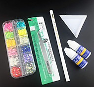 Kits d'art des décorations de nail art 6pcs ongles