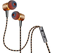 PLEXTONE® X41M In-Ear Metal Heavy Bass Earphone with Mic and Compatibe for iPhone6/iPhone6 Plus MobilePhone/Pad/MP3/PC