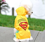 Dog Rain Coat - S / M / L / XL / XXL / XXXL / 4XL / 5XL / 6XL - Spring/Fall - Red / Yellow - Waterproof / Wedding / Cosplay - Plastic