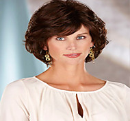 Top Quality Fashion Short Curly Brown Wig Woman's Synthetic Wigs