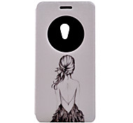 For Asus Case with Stand / with Windows / Flip / Pattern Case Full Body Case Sexy Lady Hard PU Leather ASUS
