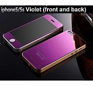 Mirror color plating anti explosion glass protection film  (front and back) for iPhone 5/5S