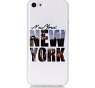 NewYork Pattern TPU Soft Case for iPhone 5C