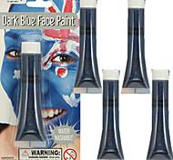 5pcs Halloween Avatar Smurf Blue Face Paint