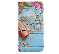 Ocean  Pattern With Diamond PU Leather Phone Case For iPhone 5/5S
