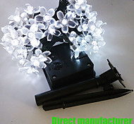 Solar 8M 60LED Fancy Plastic Flower String Lights Waterproof Lights